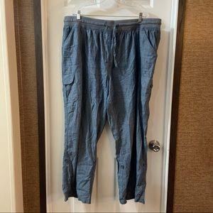 NWOT Woman Within Blue Chambray Pants size 24W